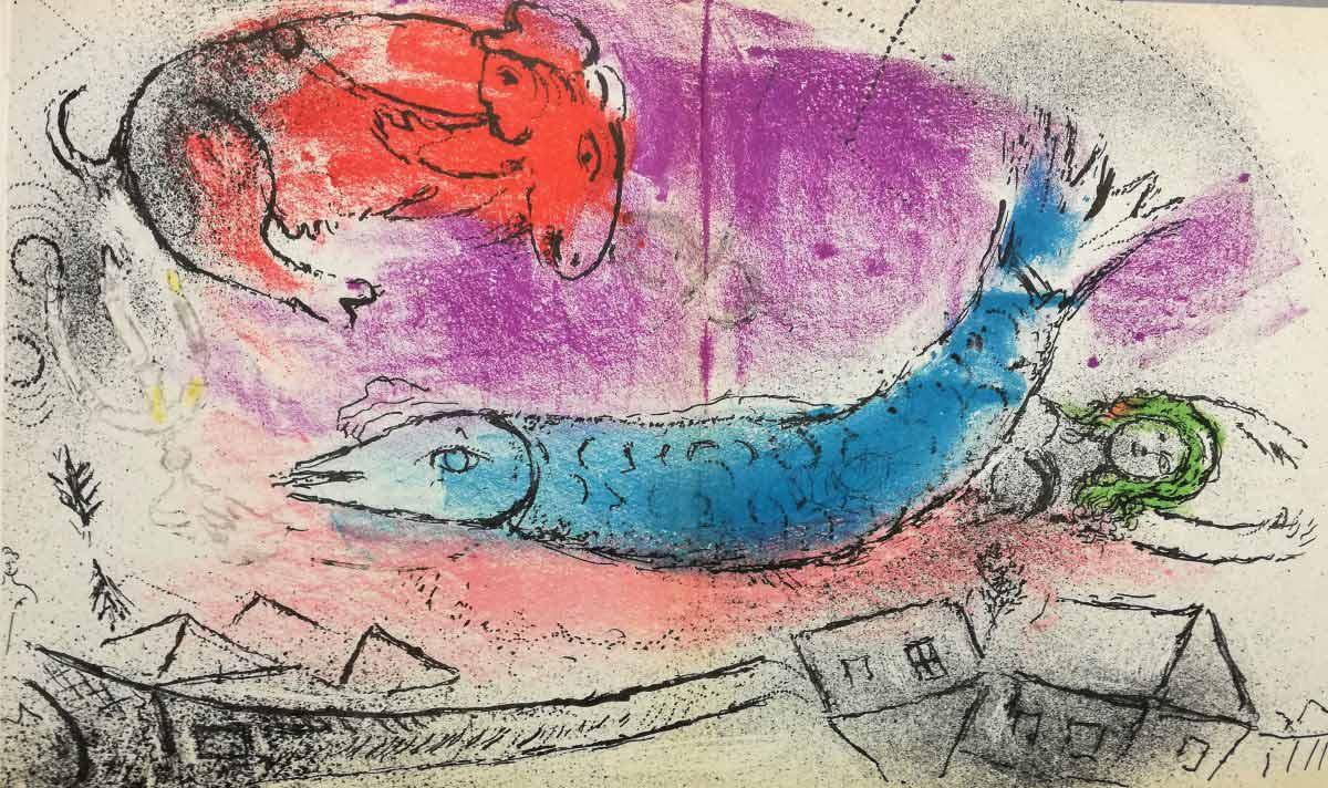 Volumetto di litografie originali di Marc Chagall