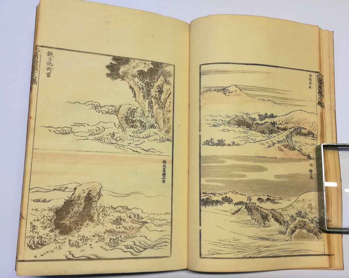 Manga Hokusai katsushika xilografia
