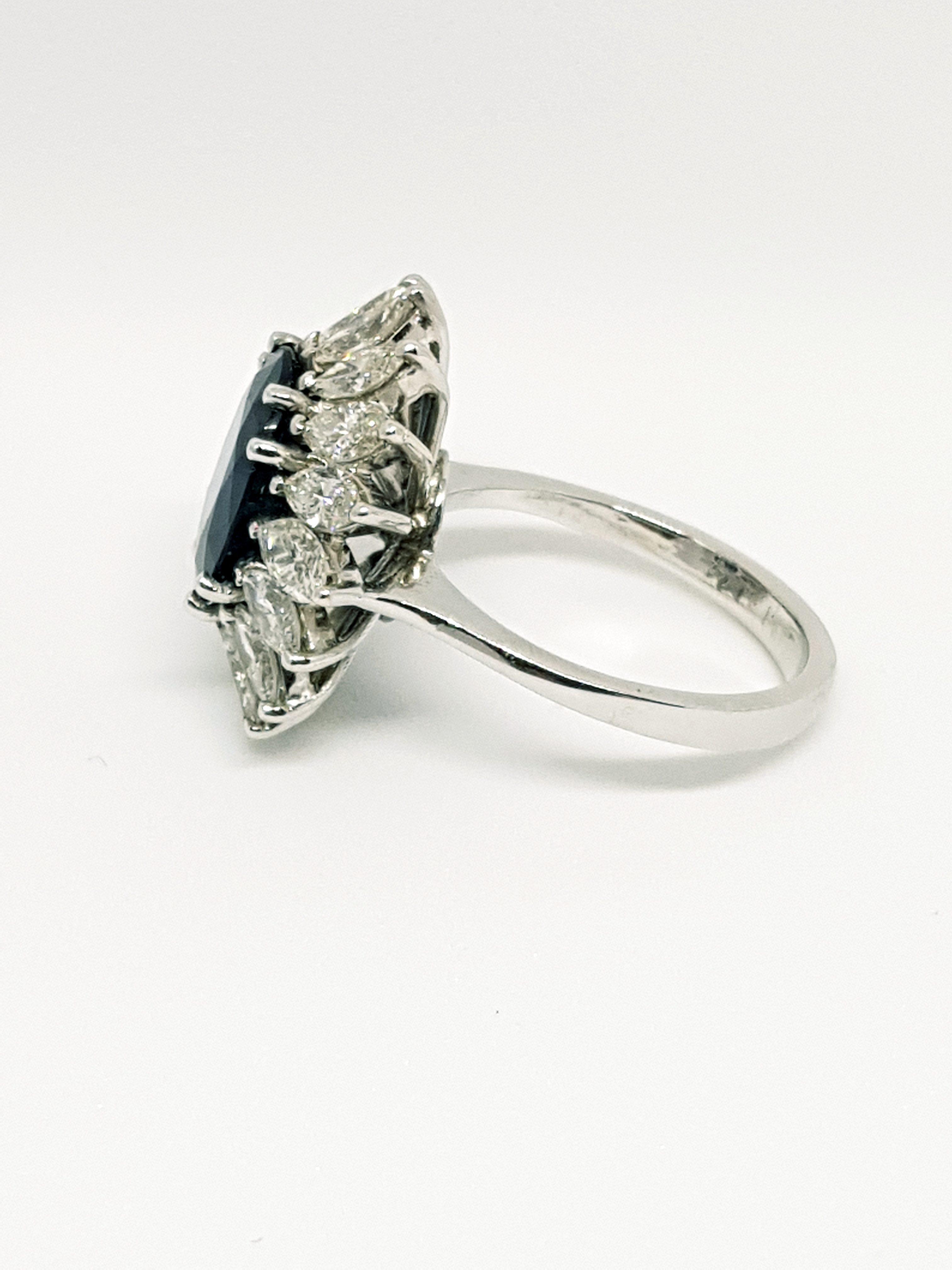 Anello con Zaffiro e diamanti (5)