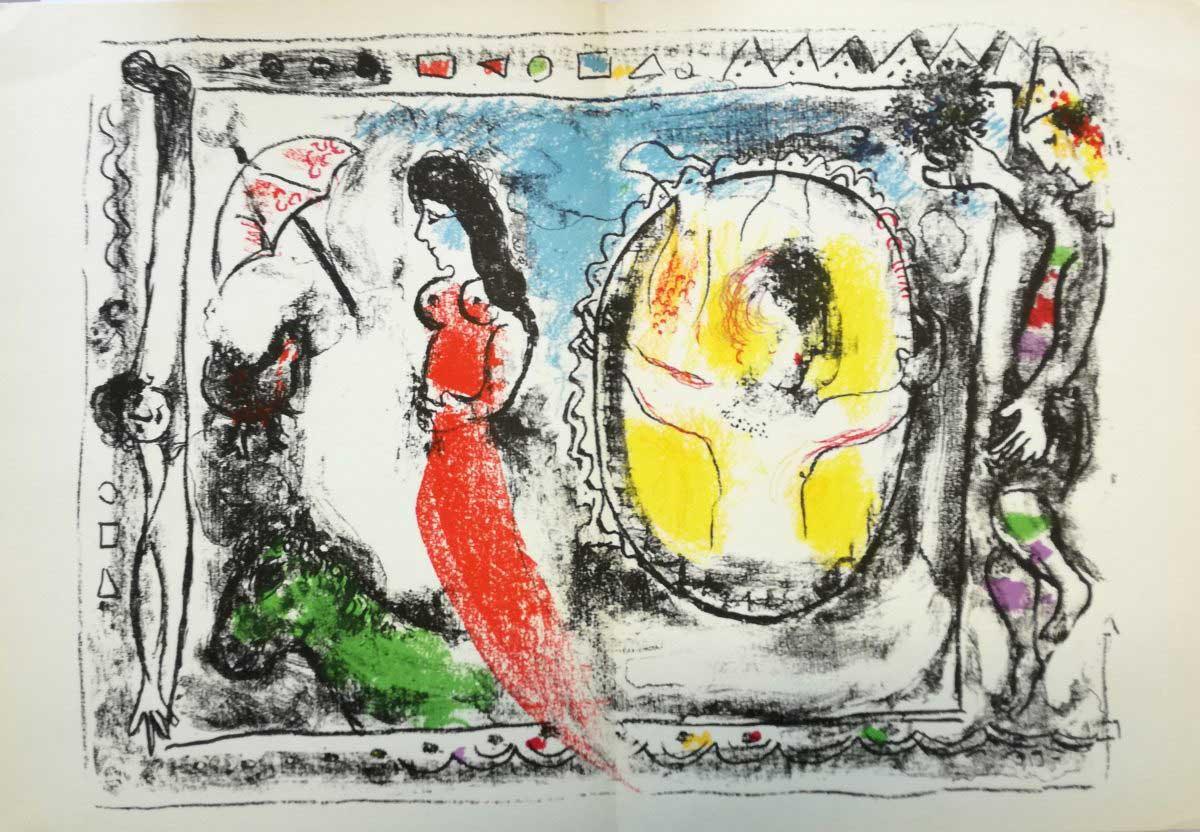Chagall - Litografie - Derriere - Le Miroir dettaglio