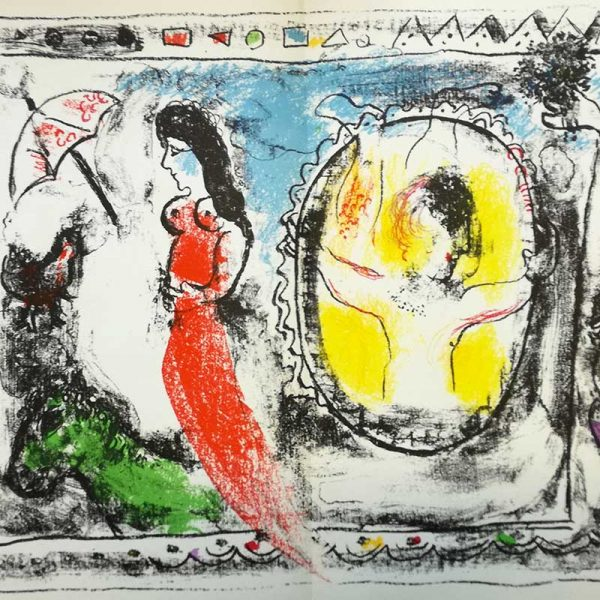Chagall Litografie Derriere Le Miroir - vendita